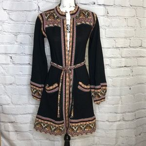Vintage Belted Sweater Jacket - 70's - size small